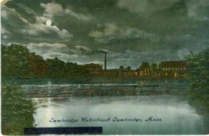 """6.02 CPC - """"Cambridge Waterfront, Cambridge, Mass."""" ca.1910 [Robbins Bros., Boston, MA] *"""