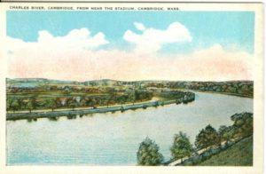 """6.03 CPC - """"Charles River, Cambridge, From Near the Stadium, Cambridge, Mass."""" ca.1915-1930 [Tichnor Bros., Inc., Cambridge, MA]"""