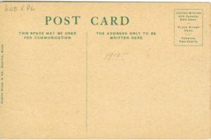 "6.08 CPC - ""Cambridge, Mass., Stadium, Soldiers Field"" ca.1910-1917 [Mason Bros. & Co., Boston, MA] * (back)"