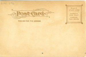 "6.10 CPC - ""Nichols' House, Salem, Mass. Built 1798."" ca.1905-1914 [Souvenir Post Card Co., New York, NY] (back)"