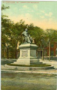 """6.11 CPC - """"90. Portland, ME., Longfellow Monument."""" ca.1907-1917 [Mason Bros. & Co., Boston, MA]"""