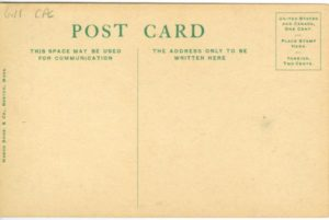 "6.11 CPC - ""90. Portland, ME., Longfellow Monument."" ca.1907-1917 [Mason Bros. & Co., Boston, MA] (back)"