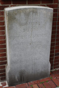 Henry Wadsworth Longfellow marker at 52 Brattle Street