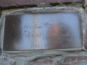 Quentin Compson Plaque, Larz Anderson Bridge, Cambridge