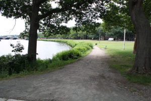 The Charles River running path, between the Anderson and Weeks bridges