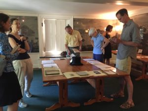 Attendees looking at the Henderson-Vandermark Collection