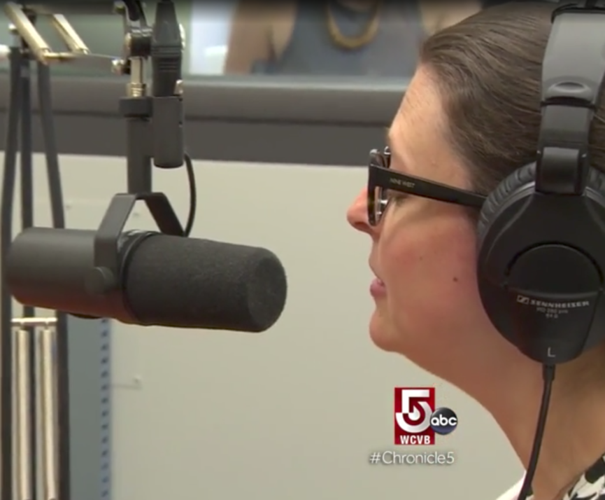 Marieke Van Damme interviewed by Heidi Legg at the Podcast Garage on WCVB show Chronicle