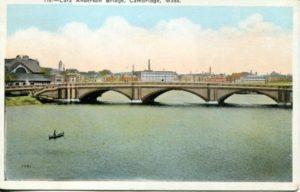 """1.03 CPC - """"115:- Larz Anderson Bridge, Cambridge, Mass."""" ca.1920-1929 [M. Abrams, Roxbury, MA]"""