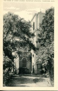 "1.17 CPC - ""The Tower of Christ Church, Protestant Episcopal, Cambridge, Mass."" ca. 1936-1944 [United Art Co., Boston, MA]"