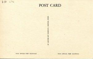 "1.17 CPC - ""The Tower of Christ Church, Protestant Episcopal, Cambridge, Mass."" ca. 1936-1944 [United Art Co., Boston, MA] (back)"