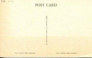 "1.18 CPC – ""Exterior of Christ Church, Protestant Episcopal, Cambridge, Mass."" ca. 1936-1944 [United Art Co., Boston, MA] (back)"