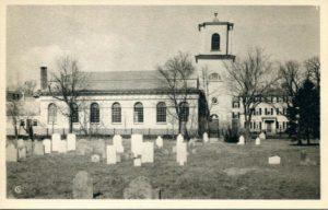 "1.21 CPC - ""Christ Church, 1761, the oldest church in Cambridge"" ca. 1938-1941 [American Scene, New Haven, CT] Photograph: Samuel Chamberlain"