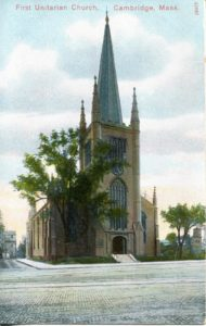 "1.26 CPC - ""First Unitarian Church, Cambridge, Mass."" ca.1906-1914 [Reichner Bros. Publishers, Boston, MA and Munchen, Germany]"