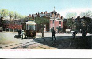"""1.29 CPC - """"Harvard Square, Cambridge, MA"""" ca. 1901-1907 [no publisher, Germany]"""