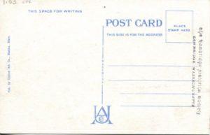 """1.33 CPC - """"Harvard Square, Cambridge, MA"""" ca. 1936-1944 [United Art Co., Boston, MA] (back)"""