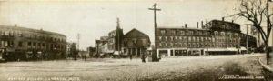"""1.36 CPC - """"Harvard Square, Cambridge, Mass."""" ca.1908 [no publisher, Cambridge, MA] Photograph: J. F. Olsson, Cambridge, MA"""