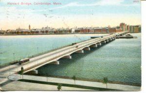 "2.03 CPC - ""Harvard Bridge, Cambridge, Mass."" ca.1906-1914 [Reichner Bros. Publishers, Boston, MA and Munchen, Germany] *"