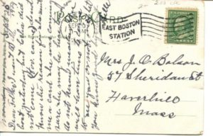 "2.03 CPC - ""Harvard Bridge, Cambridge, Mass."" ca.1906-1914 [Reichner Bros. Publishers, Boston, MA and Munchen, Germany] * (back)"