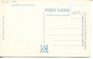 "2.05 CPC - ""634: - Harvard Bridge between Boston and Cambridge, Mass."" ca.1936-1944 [United Art Co., Boston, MA] (back)"