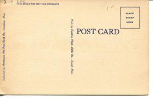 "2.14 CPC - ""12 Massachusetts Institute of Technology. Cambridge, Massachusetts"" ca.1930-1944 [American Art Post Card Co., Brookline, MA] (back)"