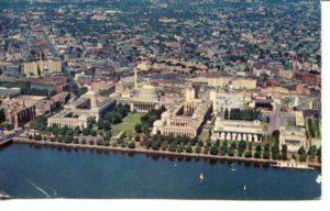 2.17 CPC - Aerial view of M.I.T. ca.1956 [Souvenir Corp. of America, Boston MA] *