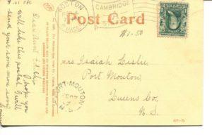 "4.01 CPC - ""Cambridge City Hall"" ca.1907 [Metropolitan News Co., Boston, MA] * (back)"