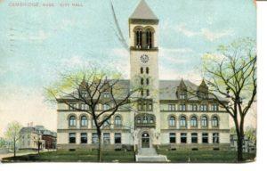 "4.02 CPC - ""Cambridge, Mass. City Hall."" ca.1909 [no publisher] *"
