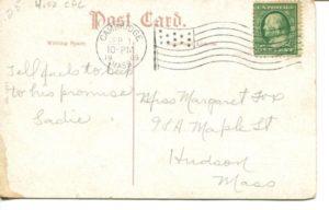 "4.02 CPC - ""Cambridge, Mass. City Hall."" ca.1909 [no publisher] * (back)"