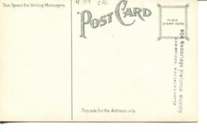 "4.04 CPC - ""Cambridge High School, Cambridge, Mass."" ca.1907-1914 [no publisher] (back)"