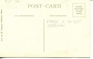 "4.05 CPC - ""High and Latin Schools, Cambridge, Mass."" ca. 1920-1929 [M. Abrams, Roxbury, MA] (back)"