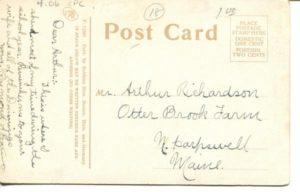 "4.06 CPC - ""Manual Training School, Cambridge, Mass."" ca.1907-1912 [Robbins Bros., Boston, MA]* (back)"
