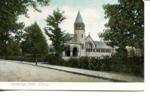 """4.08 CPC - """"Cambridge Public Library."""" ca.1905-1916 [Metropolitan News Company, Boston, MA]"""