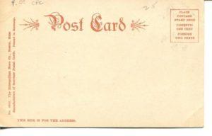"""4.08 CPC - """"Cambridge Public Library."""" ca.1905-1916 [Metropolitan News Company, Boston, MA] (back)"""