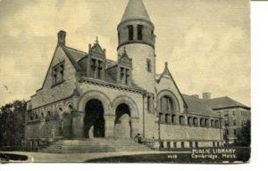"""4.09 CPC - """"Public Library, Cambridge, Mass."""" ca.1907-1914 [no publisher] *"""