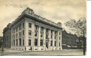 "4.14 CPC - ""Savings Bank Building, Cambridge, Mass."" ca.1907-1914 [no publisher]"