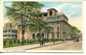 """4.15 CPC - """"Y. W. C. A., Cambridge, Mass."""" ca.1923 [C.T. (Curt Teich) American Art]"""