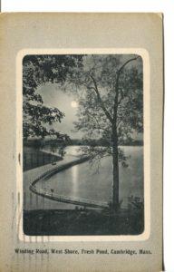 "5.04 CPC - ""Winding Road, West Shore, Fresh Pond, Cambridge, Mass."" ca.1914 [Thomson & Thomson, Boston, MA]"