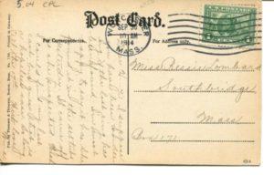 "5.04 CPC - ""Winding Road, West Shore, Fresh Pond, Cambridge, Mass."" ca.1914 [Thomson & Thomson, Boston, MA] (back)"