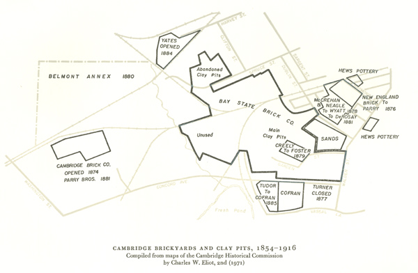 Cambridge Bricks and Clay Pits, 1856-1916