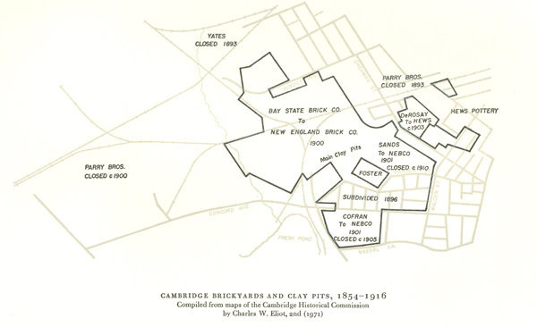 Cambridge Brickyards and Clay Pits 1854-1916