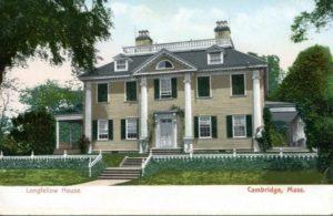 """1.102 CPC - """"Longfellow House, Cambridge, Mass."""" ca.1904-1924 [The New England News Company, Boston, MA]"""