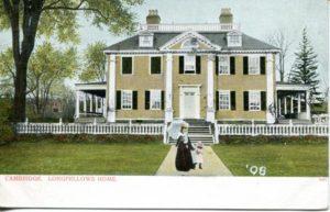 """1.103 CPC - """"Cambridge, Longfellow's Home"""" ca.1905-1908 [Metropolitan News Company, Boston, MA] *"""