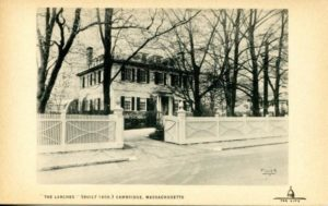 """1.84 CPC - """"'The Larches' (built 1808) Cambridge, Massachusetts"""" ca.1920-1939 [Published for the Cambridge Historical Society by Maynard Workshop, Waban, MA]"""