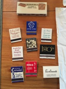 mid-twentieth-century matchbooks