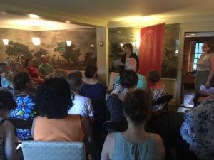 Archivist Maggie Hoffman speaking