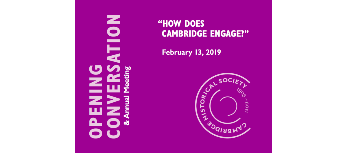 2019 Opening Conversation – Save the Date!