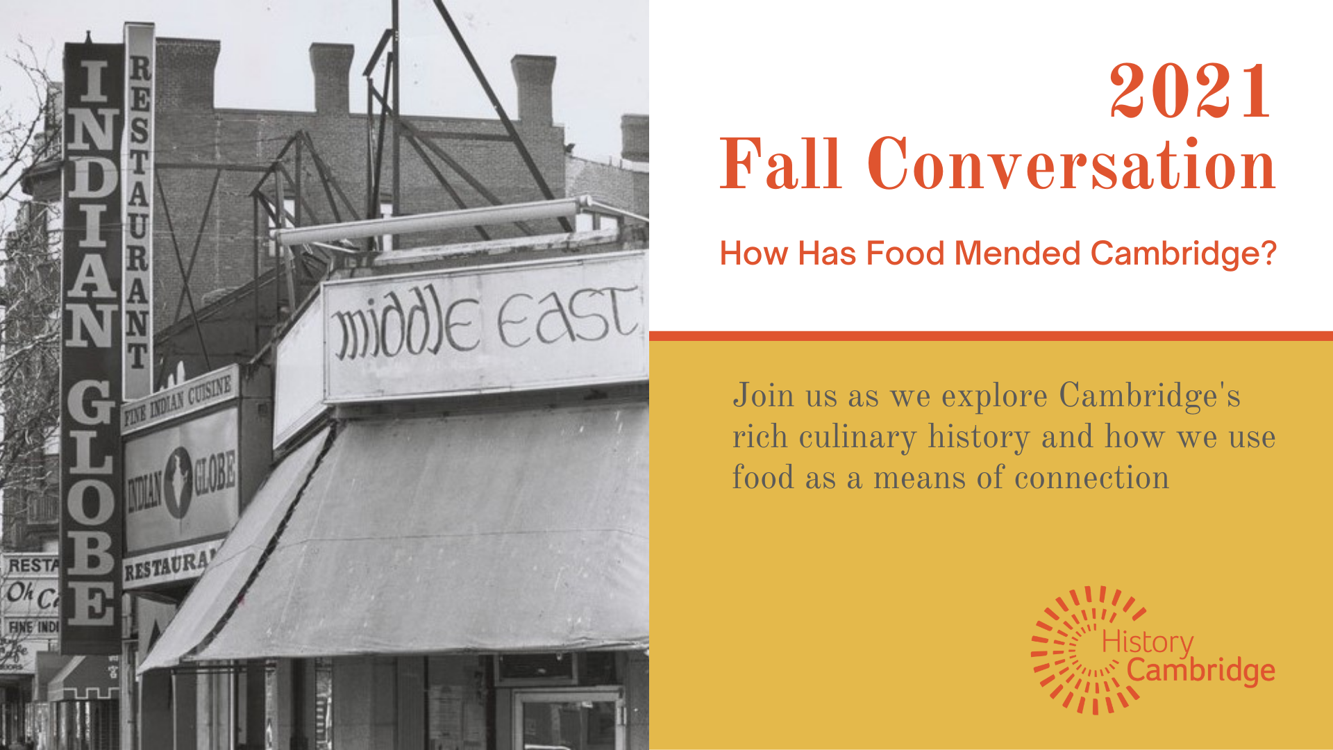 Fall Conversation: How Has Food Mended Cambridge?